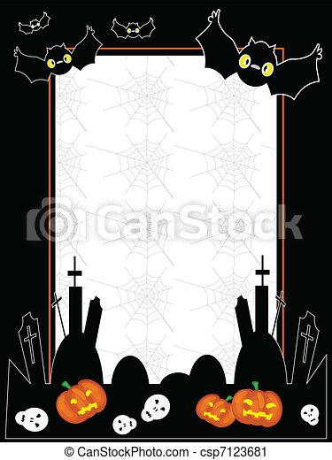 Rahmen, vektor, halloween Vektor Clipart - Suchen Sie Illustration ...