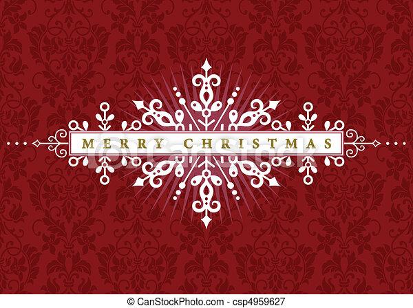 Vector ornate Weihnachten Rahmen - csp4959627