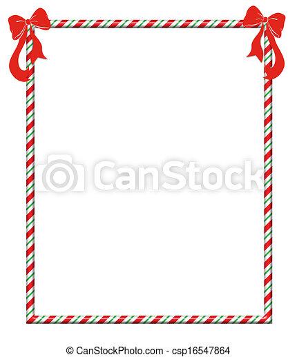 Rahmen Weihnachten Candycane Krückstock Festlicher Rahmen