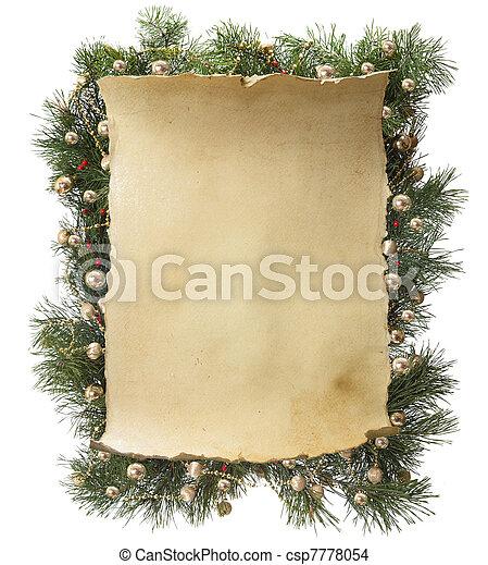 Weihnachtsrahmen - csp7778054