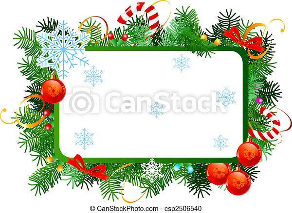 Rahmen Weihnachten Rahmen Vektor Balls Rotes Weihnachten