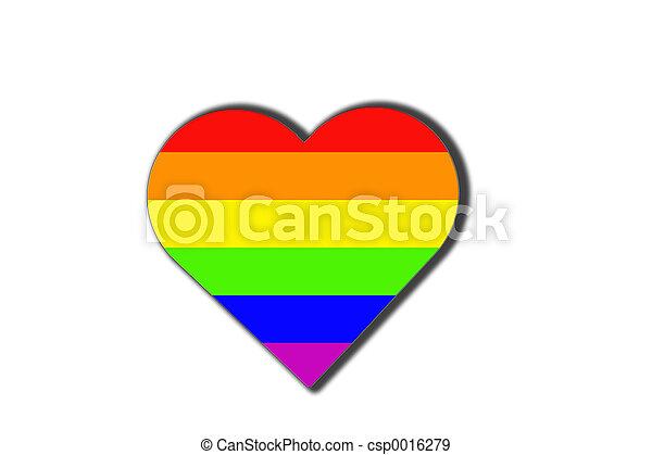 Raibow Heart - csp0016279