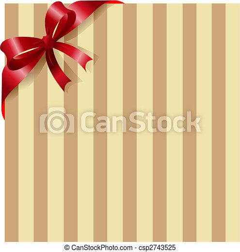 raie, ruban, fond, rouges - csp2743525