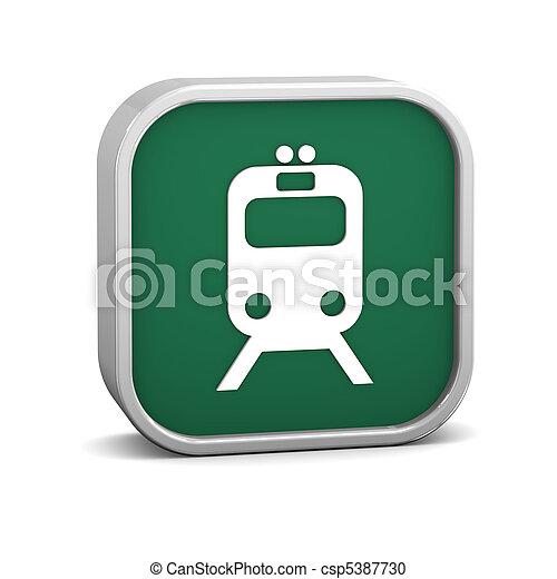 Rail Transportation Sign - csp5387730