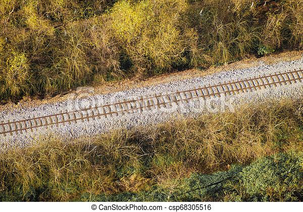 Railroad Aerial View - csp68305516