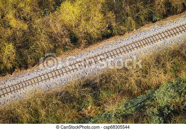 Railroad Aerial View - csp68305544