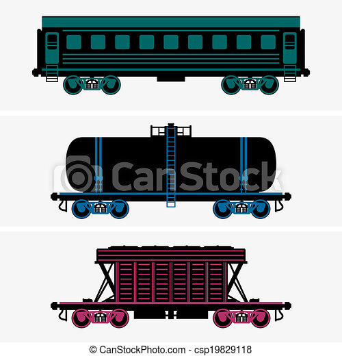 Railroad cars - csp19829118