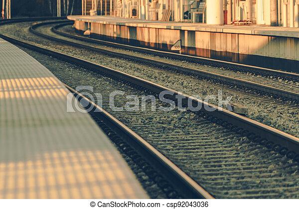 Railroad Platform and Tracks - csp92043036