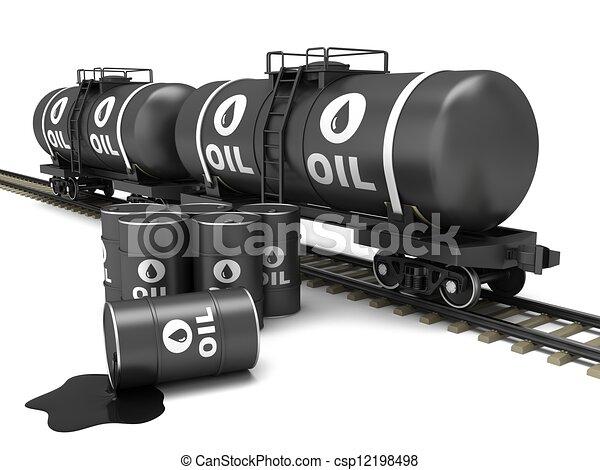 Railroad tank wagon - csp12198498
