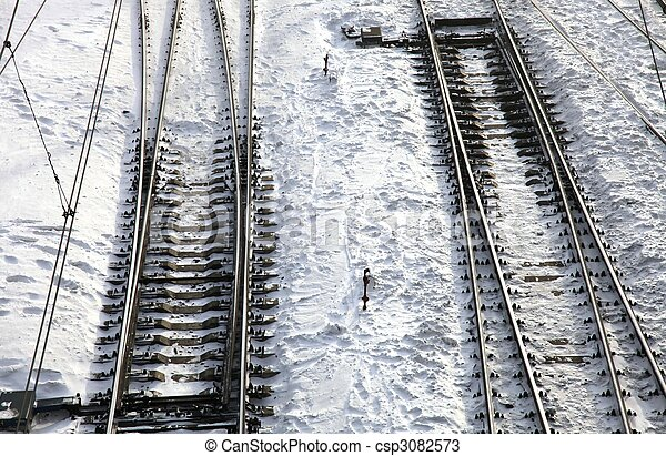 Railroad tracks - csp3082573