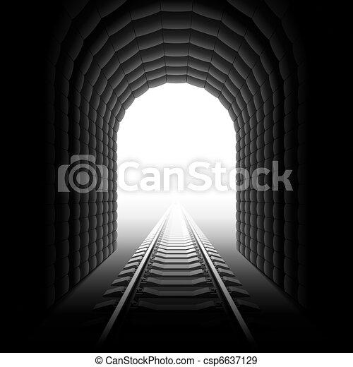 Railroad tunnel - csp6637129