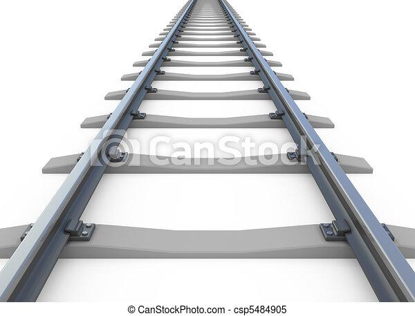 Railway isolated on white - csp5484905