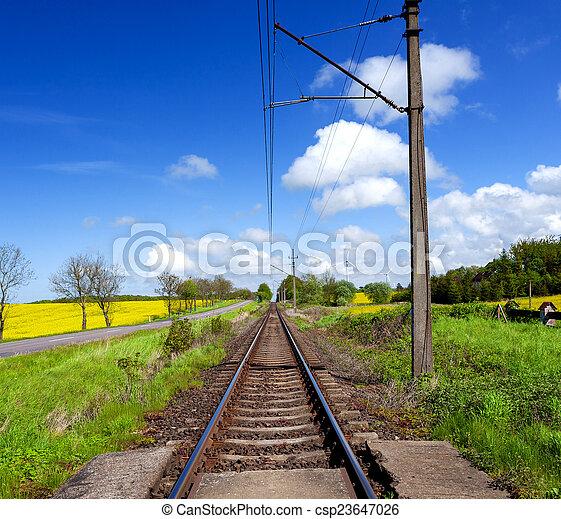 Railway lines - csp23647026