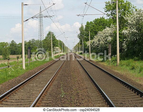 railway lines  - csp24094528