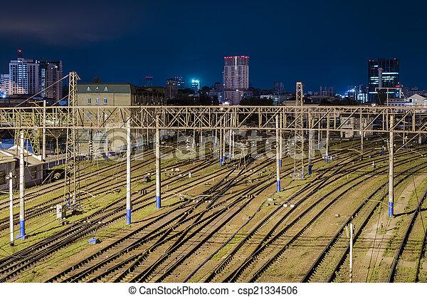railway lines - csp21334506
