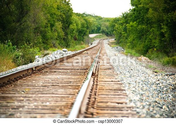 Railway on a sunny day - csp13000307