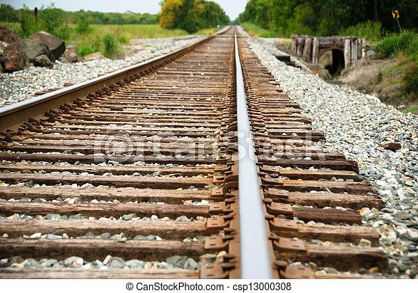 Railway on a sunny day - csp13000308