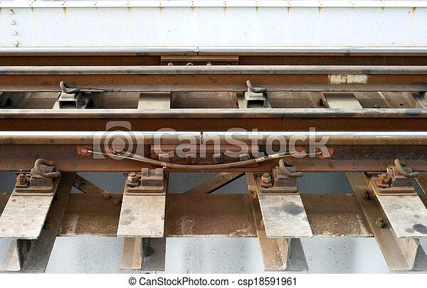 railway on the bridge - csp18591961