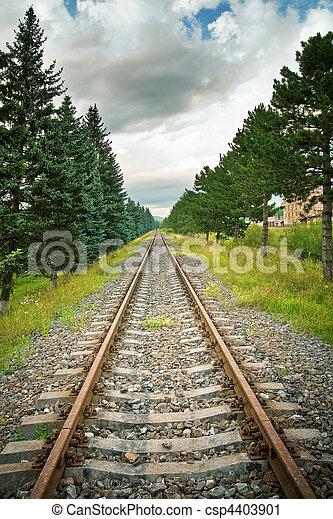 Railway track in perspective - csp4403901