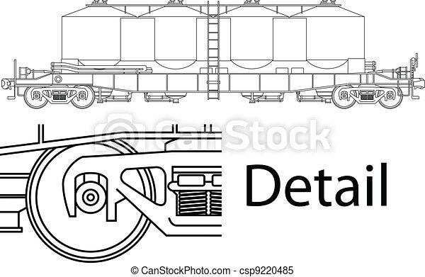 railway wagon - csp9220485