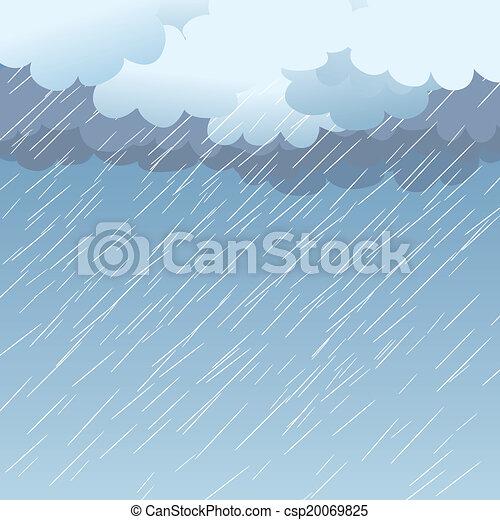 Rain as a background, vector - csp20069825