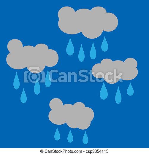 Rain clouds - csp3354115