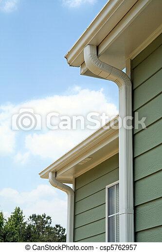 Rain gutters on a home - csp5762957