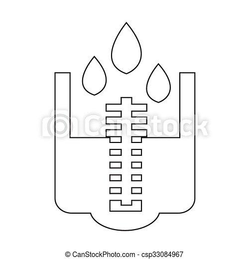 Rain meter icon illustration design.