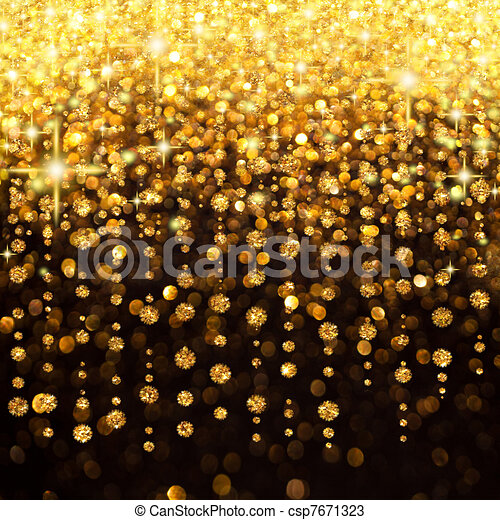 Rain of Lights Christmas or Party Background - csp7671323