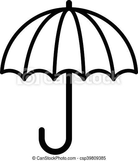 rain umbrella vector icon vector search clip art illustration rh canstockphoto com umbrella vector art umbrella vector download