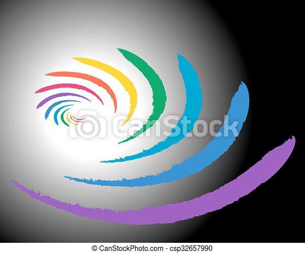 rainbow Abstract background - csp32657990