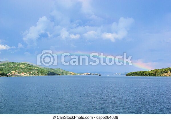 rainbow Adriatic Sea 01 - csp5264036