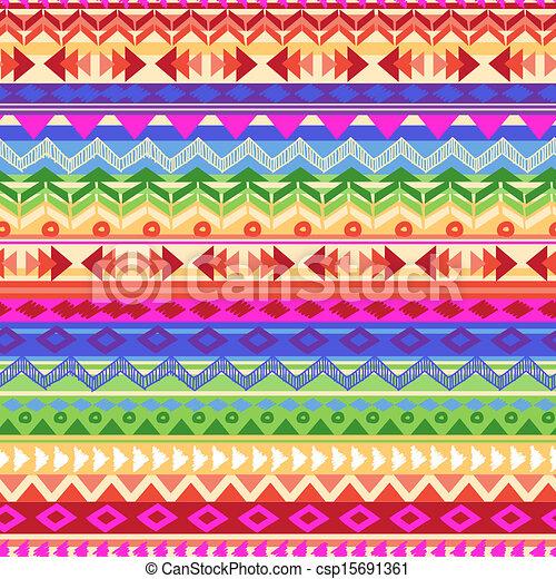rainbow Aztec stripe - csp15691361