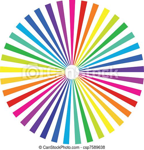 rainbow background - csp7589638