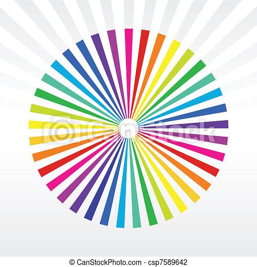 rainbow background - csp7589642
