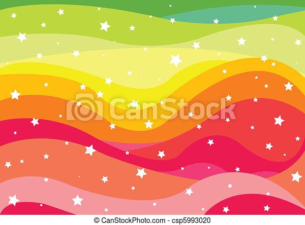 Rainbow Background - csp5993020