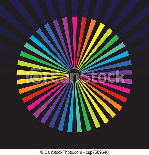 rainbow background - csp7589640