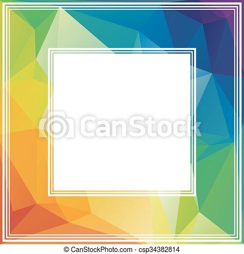 rainbow border polygonal abstract border with multicolored rainbow