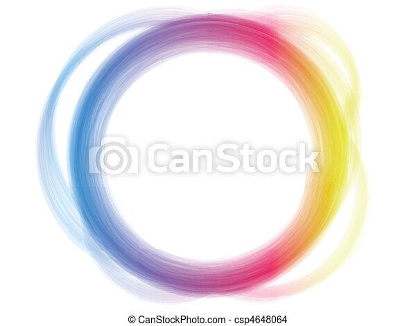 Rainbow Circle Border Brush Effect. - csp4648064