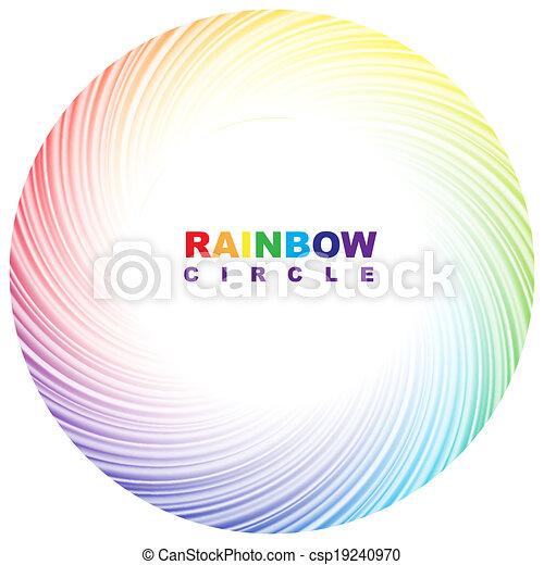 Rainbow circle. - csp19240970