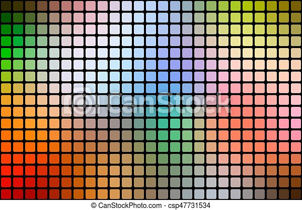 Rainbow colors abstract rounded mosaic background over black - csp47731534