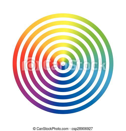 rainbow colors circle rings seven rainbow gradient colored rings of rh canstockphoto com clipart coloring sheets first responders clipart coloring shapes of boats