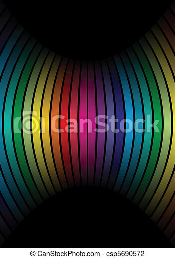 Rainbow colors in a row - csp5690572