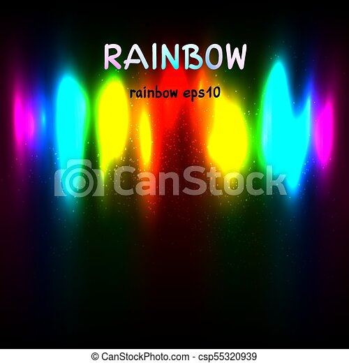 rainbow colors light background with text - csp55320939