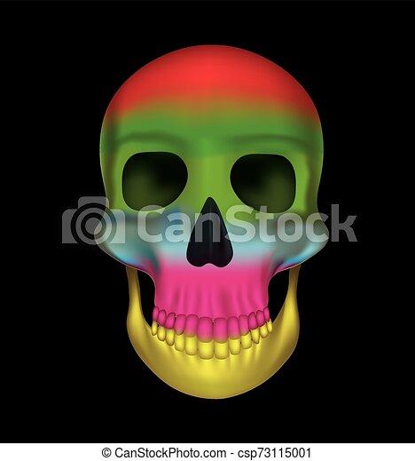 Rainbow colors skull - csp73115001