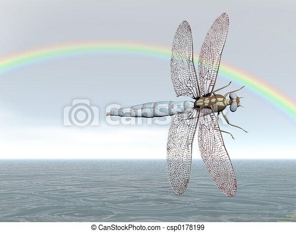 Rainbow Dragonfly - csp0178199