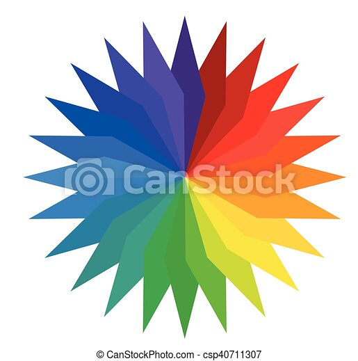 Rainbow Floral Wheel - csp40711307
