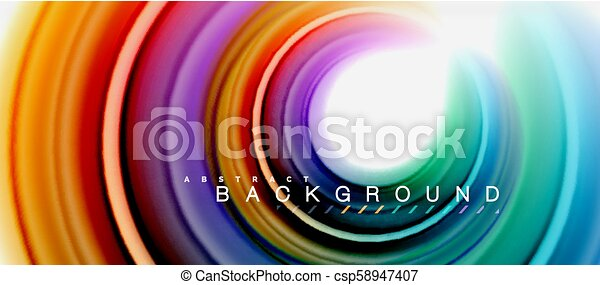Rainbow Fluid Abstract Swirl Shape Twisted Liquid Colors Design Colorful Marble Or Plastic Wavy Texture Background Multicolored Template For