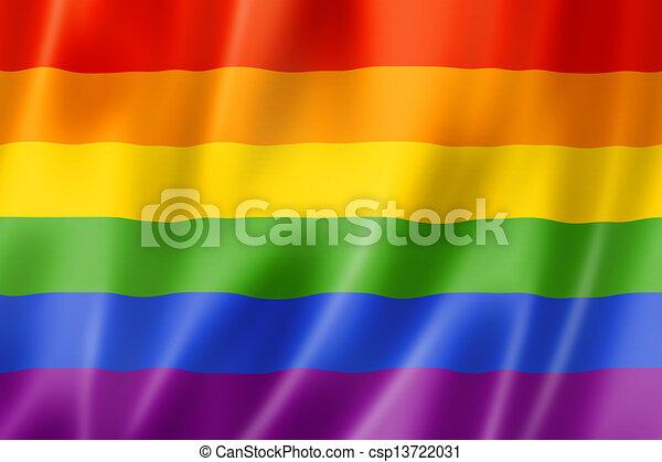 Rainbow gay pride flag - csp13722031
