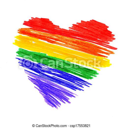 rainbow heart - csp17553821